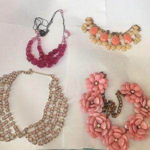 Pink necklace bundle